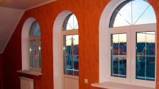 Окно пластиковое аркой в Саратове